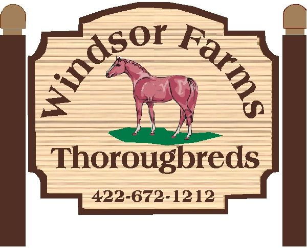 O24216 - Design for Thoroughbred Farm Sign