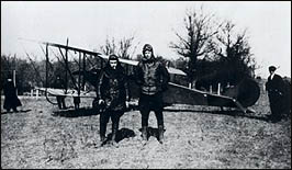 Lindbergh, right, with is JN4 during barnstorming tour