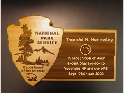 M3811- Cedar Recognition Plaque for the National Park Service  (Gallery 16)