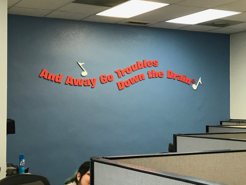Call Center Wall Lettering
