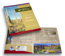 Request an estimate for printing pocket folders / presentation materials.