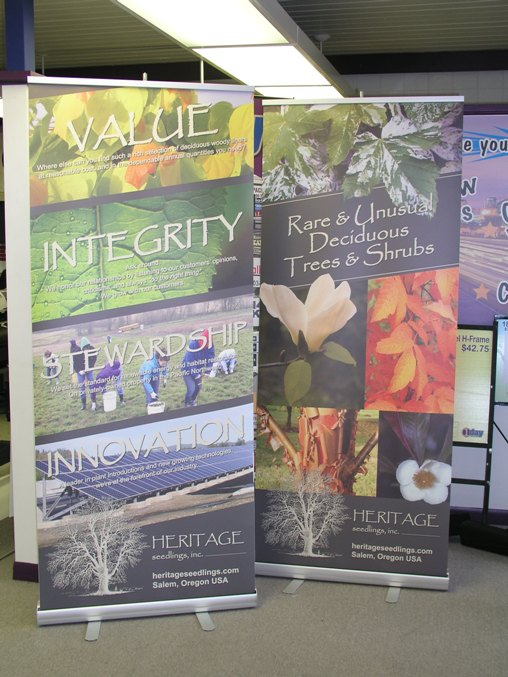 Heritage Seedlings Banner Stand