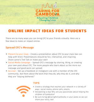 Online Fundraising Ideas for Students