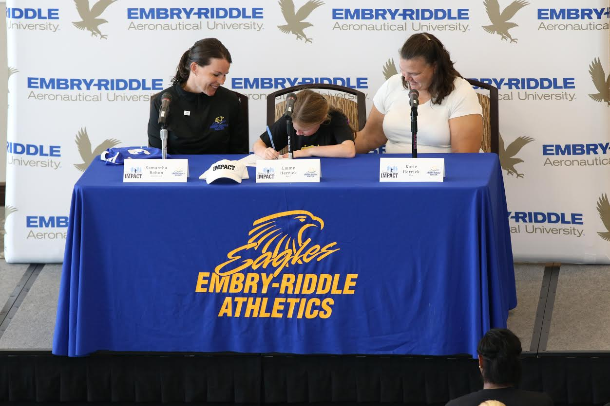 @ERAUWSoccer Signs Emmy Herrick Through Team IMPACT
