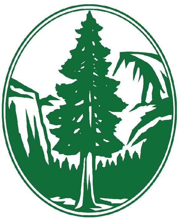 UP-3190 - Carved Wall Plaque of the Logo of the Sierra Club, Artist Painted
