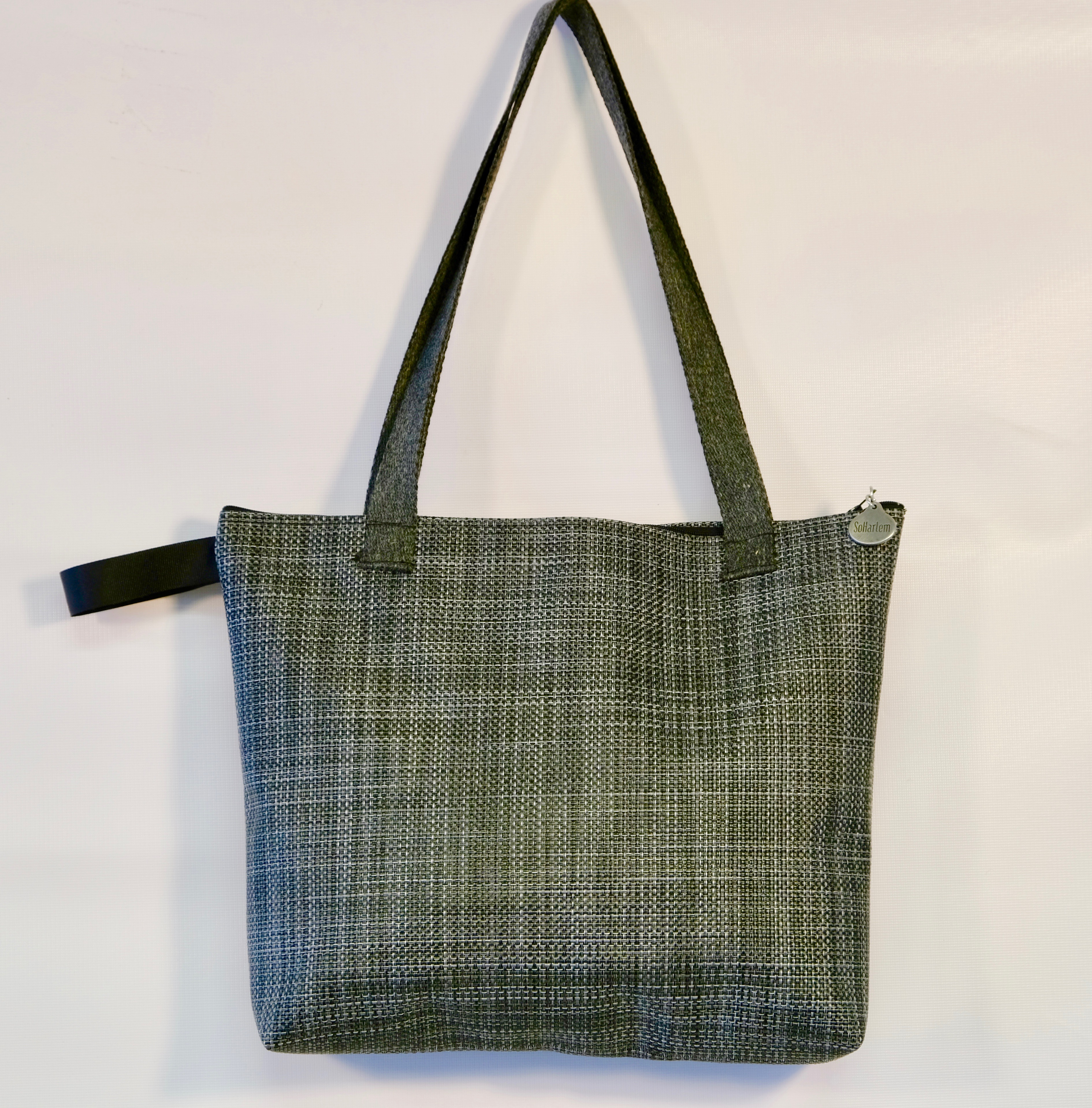 Medium Charcoal Zipper Tote