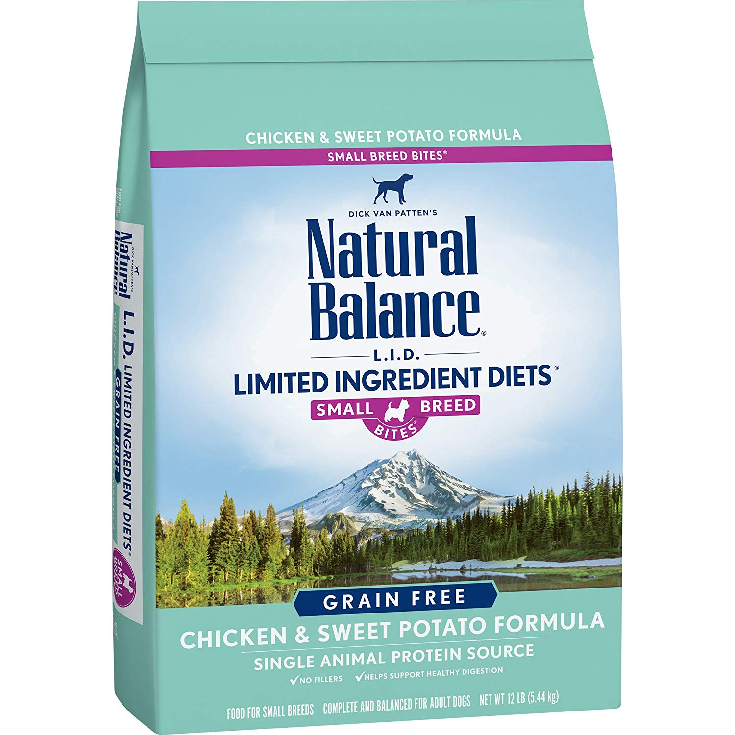 Natural Balance Small Breed Bites L.I.D. Limited Ingredient Diets Dry Dog Food, Grain Free, Chicken & Sweet Potato Formula