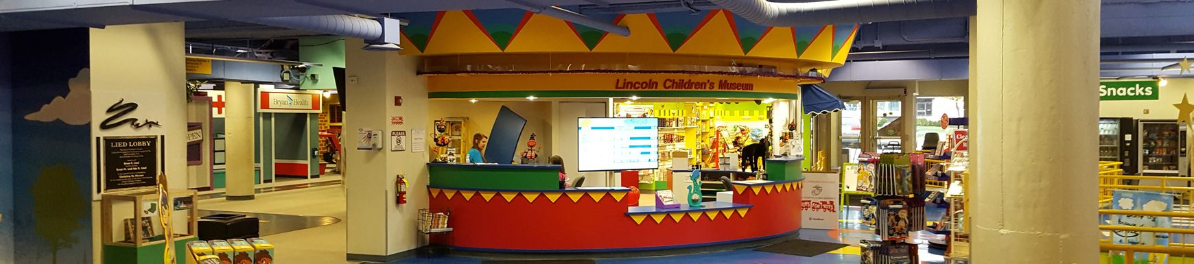 Enter the lobby of Lincoln Children's Museum