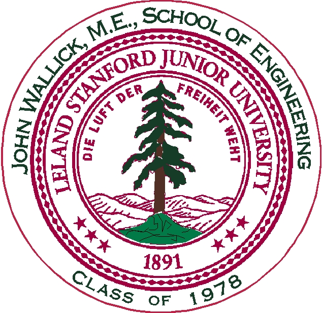 Y34384 - Personalized Carved 2.5D HDU (Raised Outline or Engraved)  Wall Plaque of the Seal of Stanford University