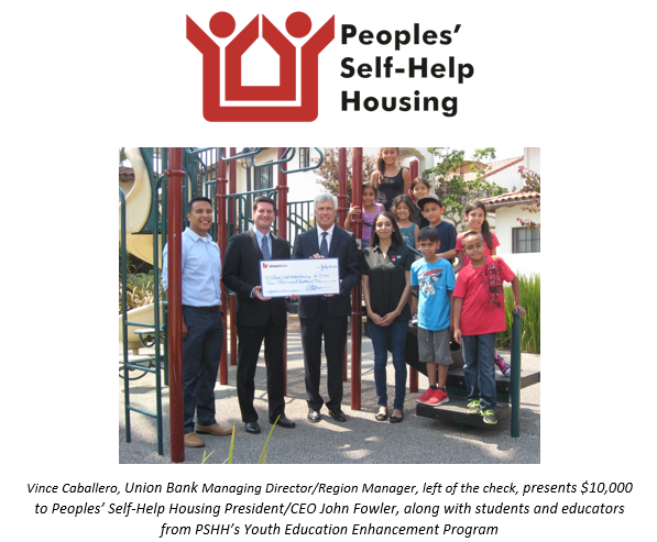 Union Bank Grants $10,000 to Peoples' Self-Help Housing Programs