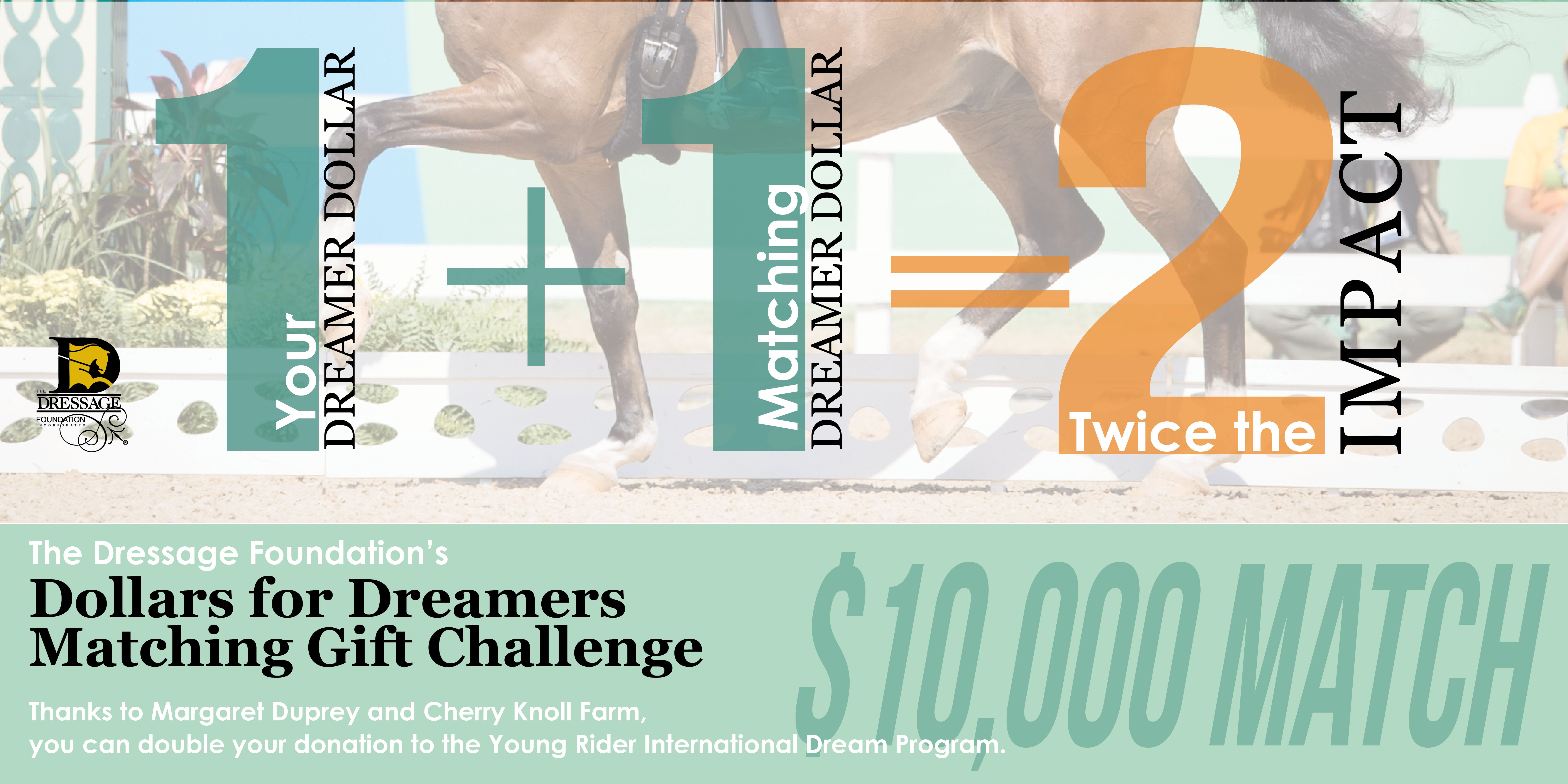 """TDF and Margaret Duprey Announce """"Dollars for Dreamers"""" Matching Gift Campaign"""