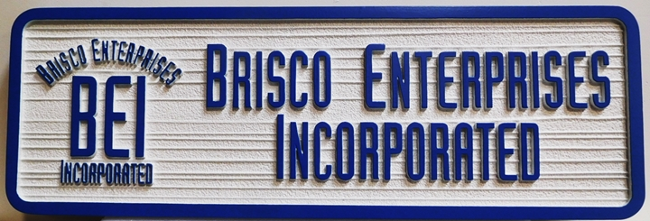 S28150 - Carved and Sandblasted Wood Grain Sign for Brisco Enterpises Inc., 2.5-D Artist-Painted