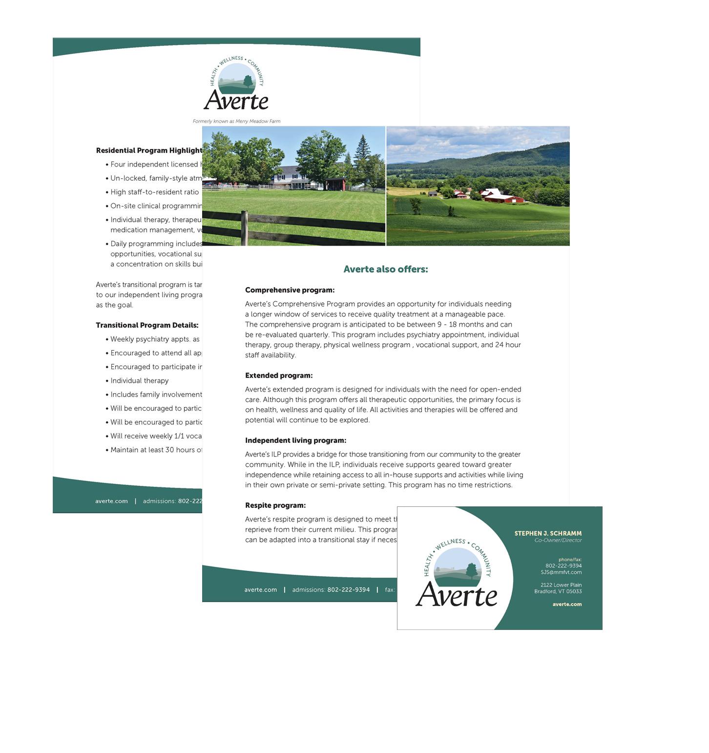 Sell Sheet & Business Card