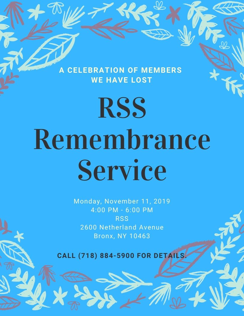 RSS Rembrance Service - A Celebration of Members We Have Lost