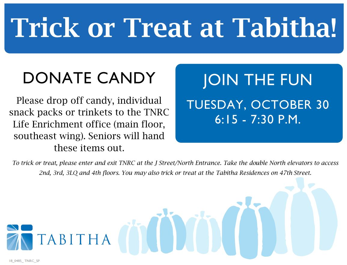 Trick or Treat at Tabitha