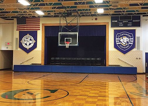 St. Catherine Cougars Gym Banners