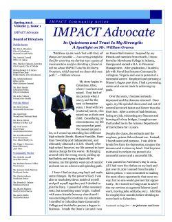 IMPACT Advocate~Spring 2016