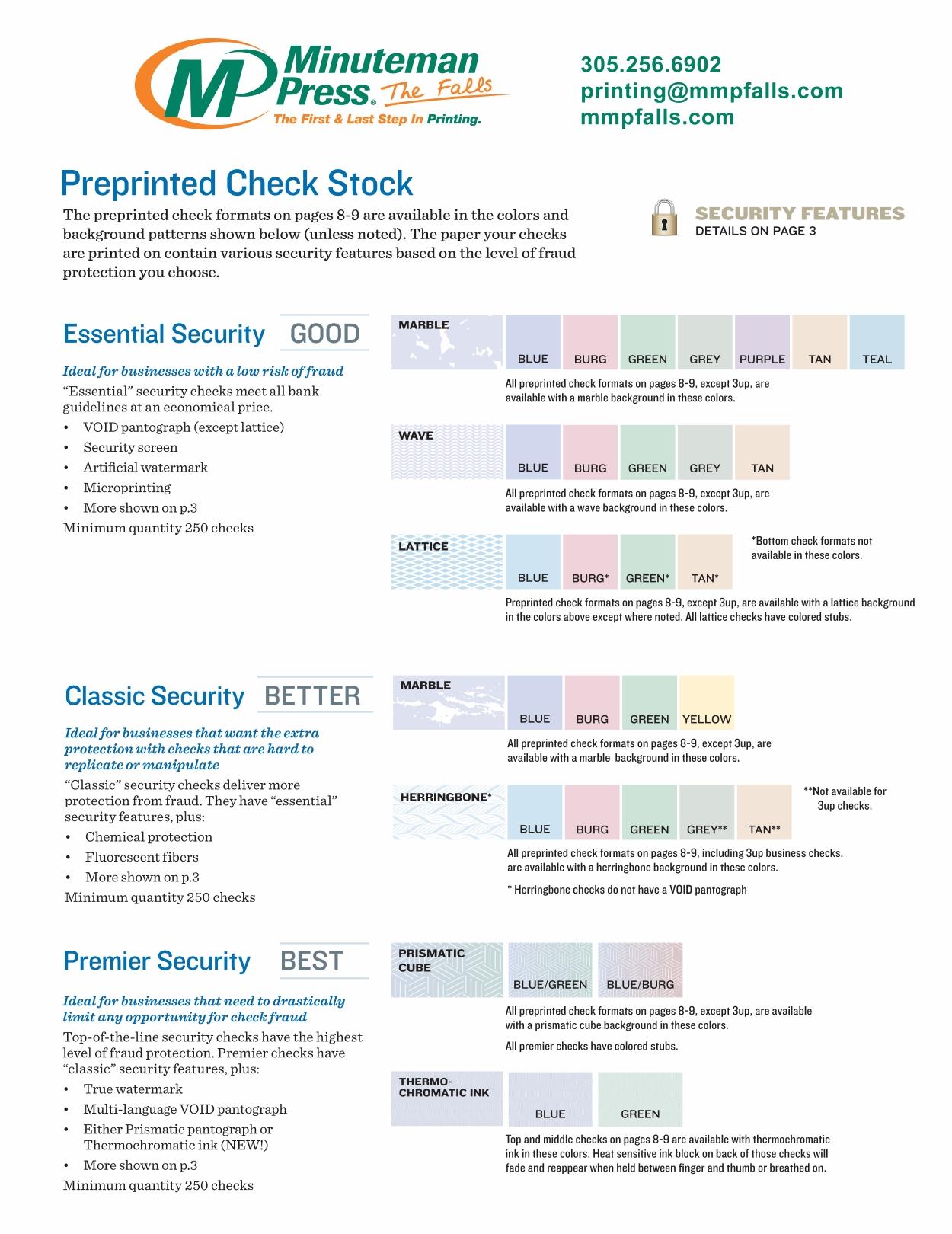 Blank Check Stock