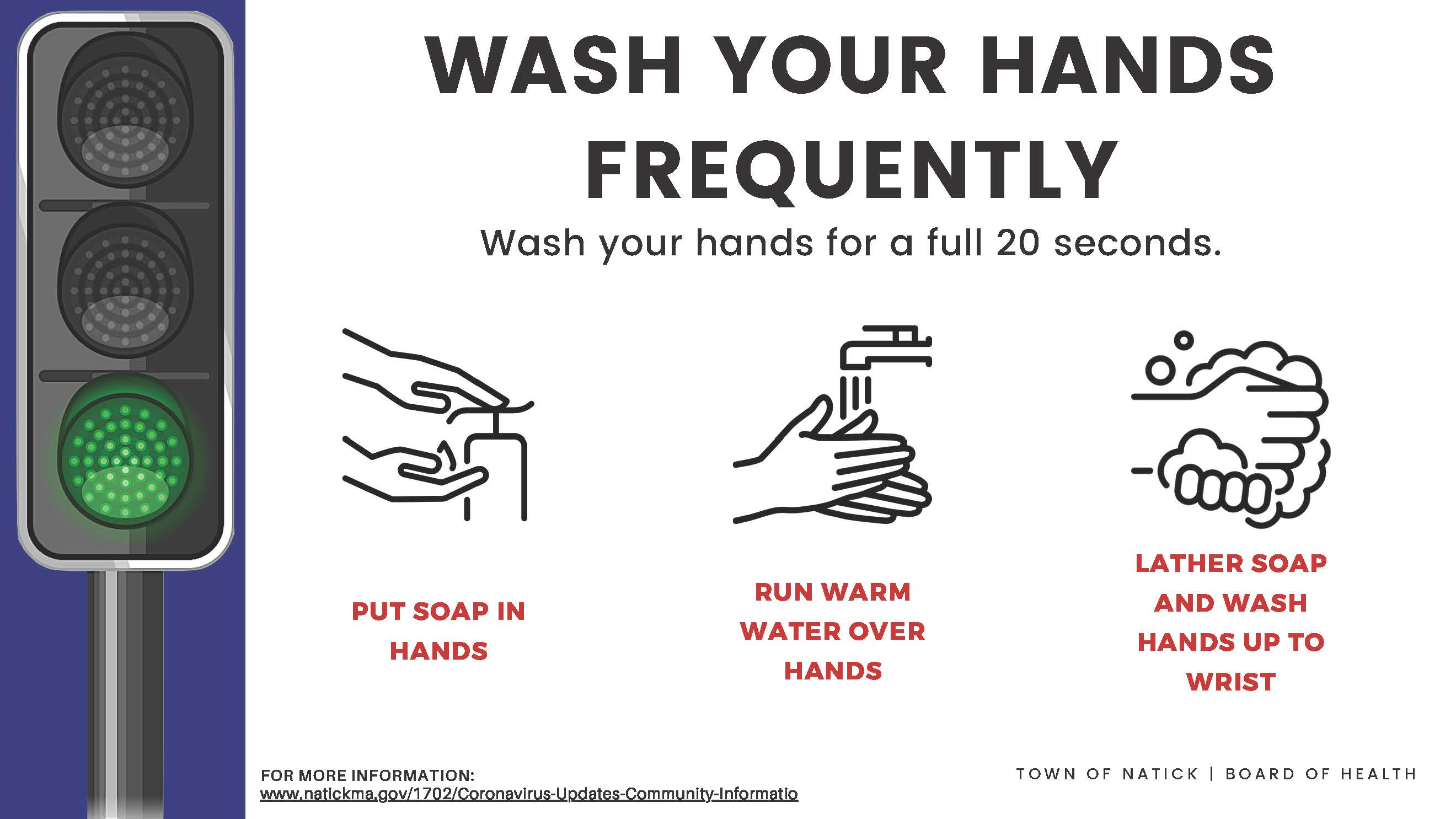 Wash your hands frequently (Corrugated plastic) Outdoor Sign