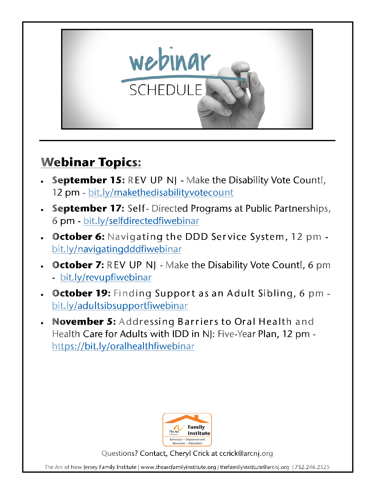 Share these webinars with a friend! Download the flyer HERE.