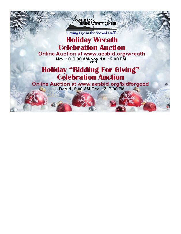 Castle Rock Senior Center Bidding for Giving