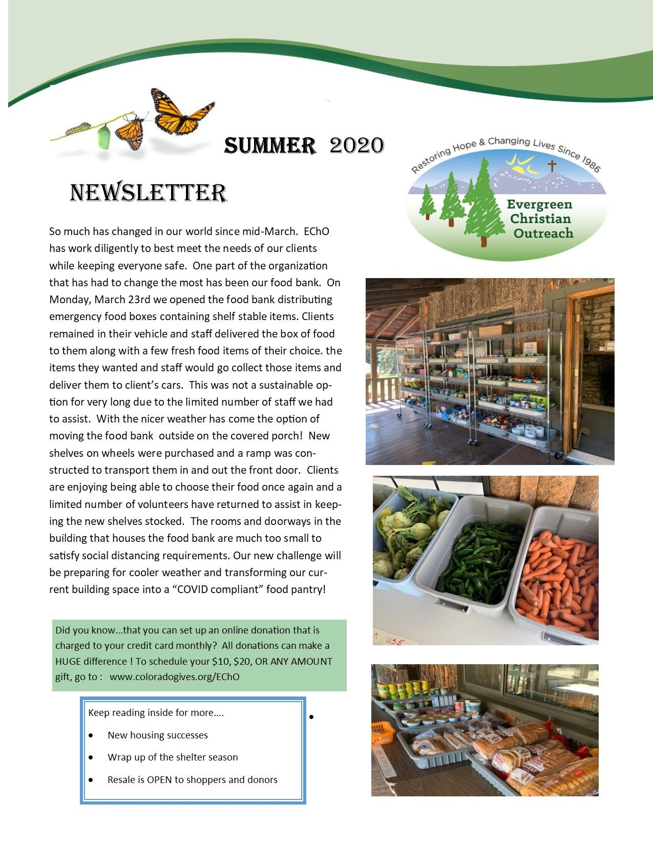 2020 Summer Newsletter