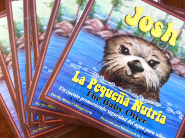 "Get Your Own Copy of ""Josh the Baby Otter"" or ""Josh La Pequeña Nutria""!"