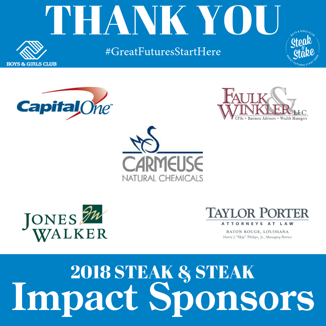 Steak & Stake 2018 Impact Sponsors