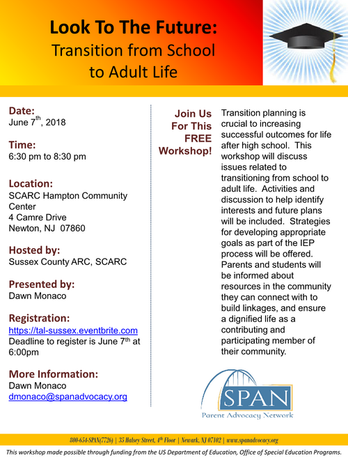 Look To The Future: Transition from School to Adult Life (The Arc of Sussex, SCARC)