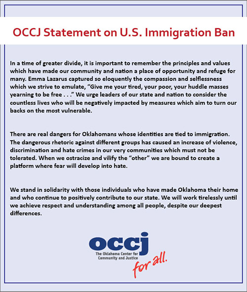 OCCJ Statement on Immigration Ban