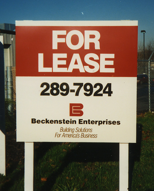"""Real Estate """"For Lease"""" Post & Panel Sign 4 ft  x 4ft"""