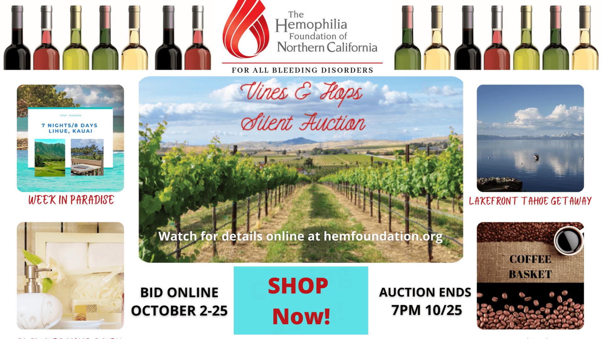 Vines & Hops Silent Auction Online