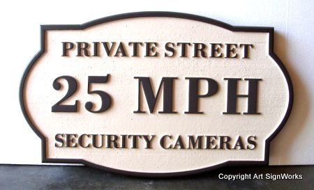 KA20677 - Speed Limit and Security Camera Sign for Residential Community