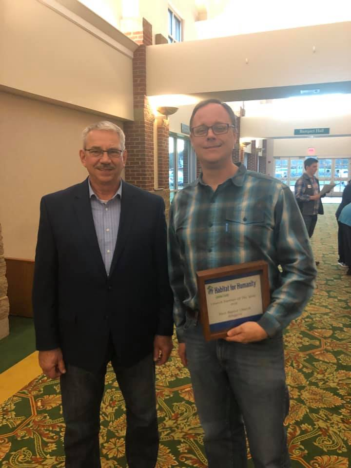 First Baptist Church of Ringgold receives the 2019 church partner of the year award