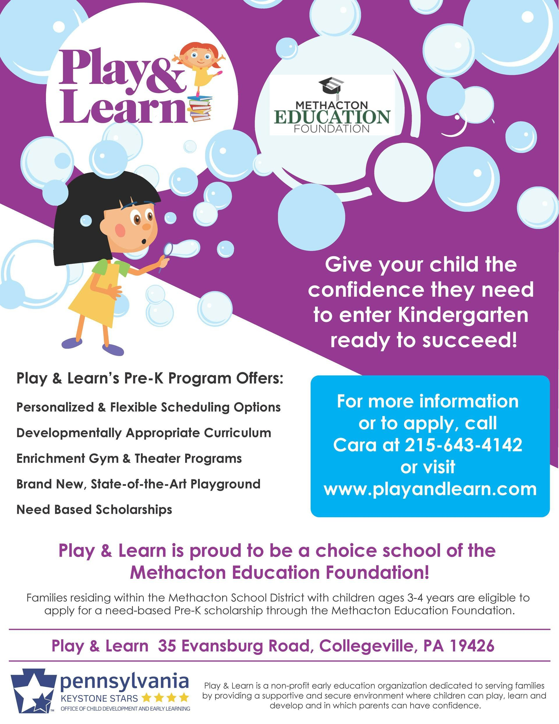 Need-Based Pre-K Scholarships