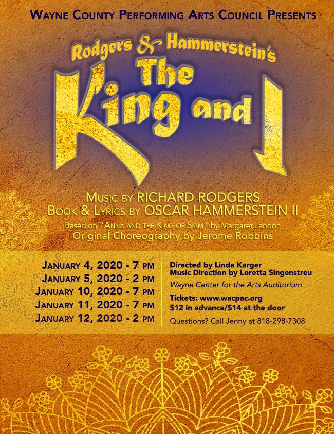 WaCPAC Presents: The King & I