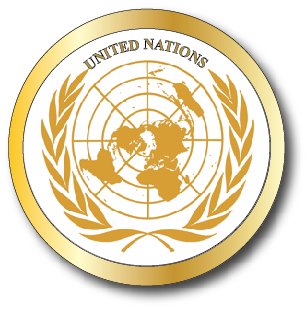 EP-1140 - Carved Plaque of the Great Seal  of the United Nations,  Gold Gilded