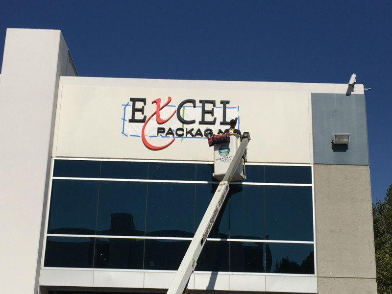 3D Letter Building Sign Installations in Orange County CA