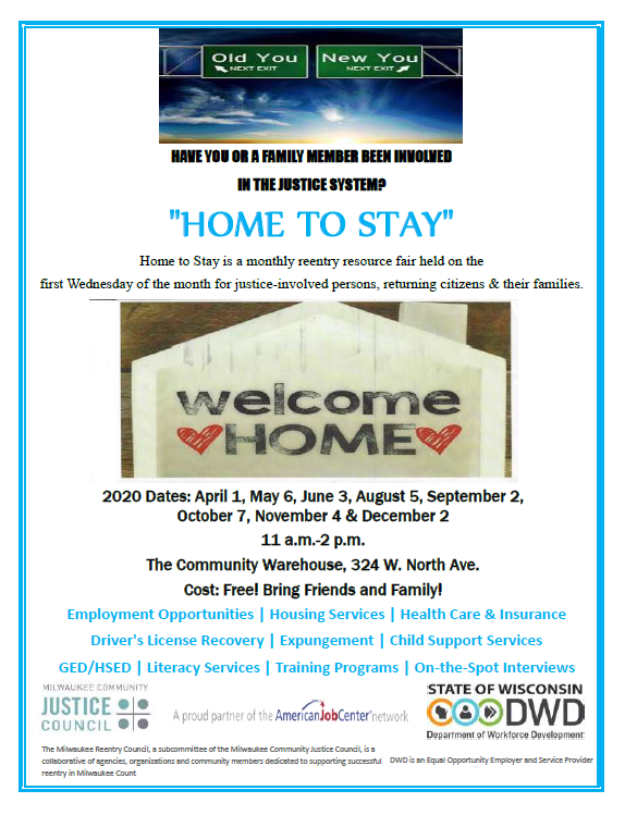 Home to Stay: A Resource-Rich Event Dedicated to Supporting Justice-Involved Persons, Returning Citizens and their Families