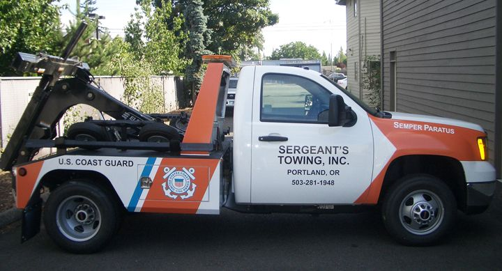Sergeants Towing Coast Guard Tow Truck full color digital Print vehicle graphics