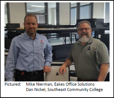 Eakes Donates Printers to Southeast Community College