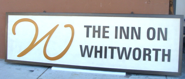 "T29083 - Carved HDU Sign for the ""The Inn at   Whitworth"""