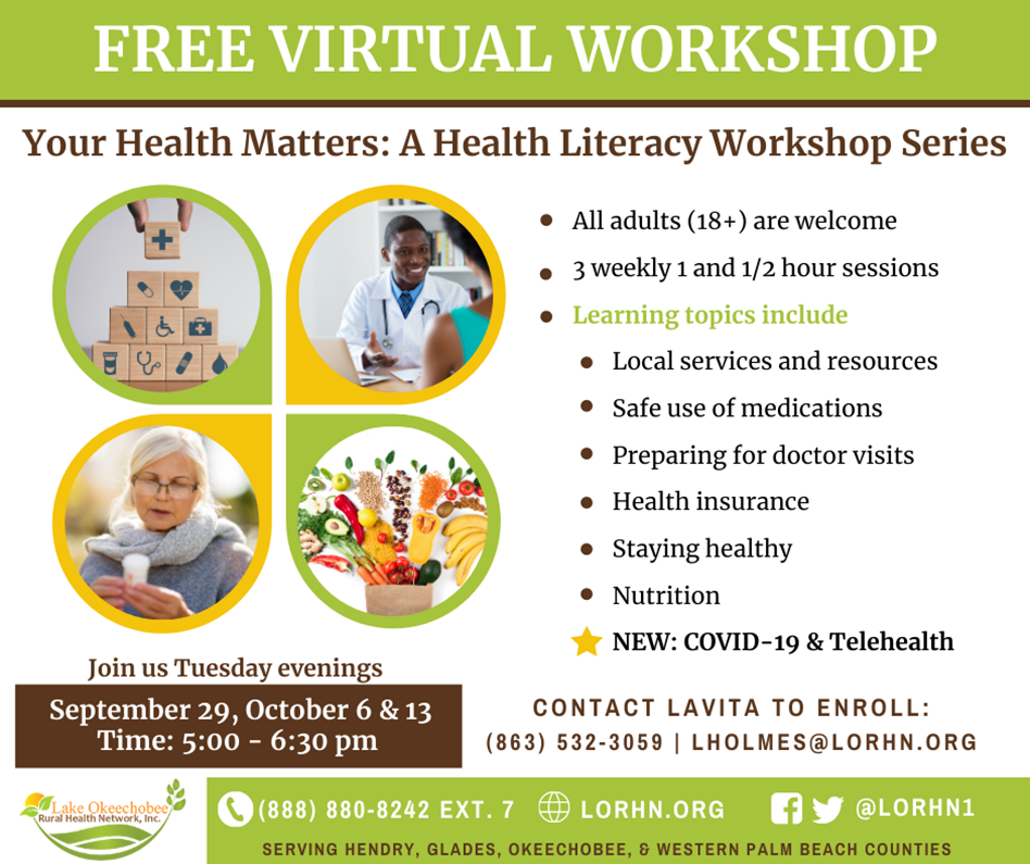 Your Health Matters: A Health Literacy Workshop