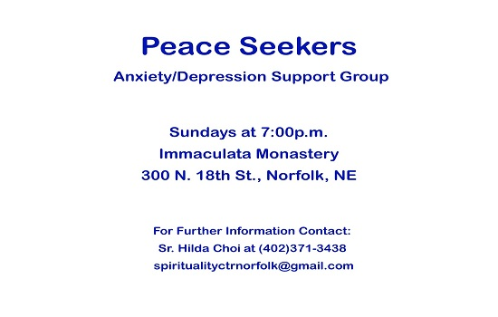 Peace Seekers   Anxiety/Depression Support Group