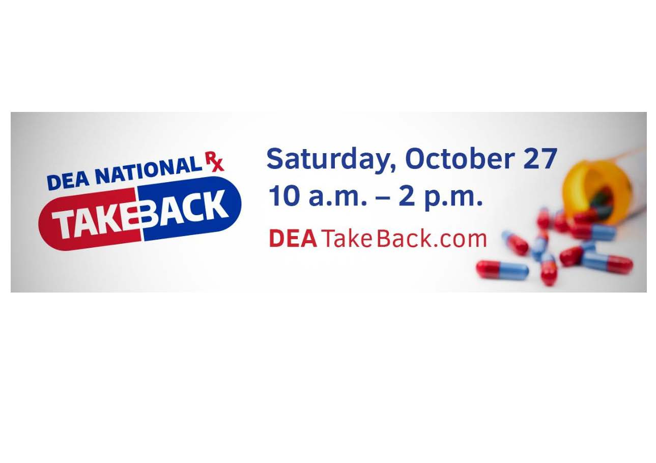 Drug Take Back Day is October 27th, 10 am to 2 pm.  Bring your unused Rx, veterinary and OTC medications to Niskayuna Town Hall and we will do the rest!