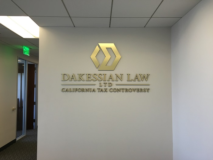 Exceptionnel Brushed Gold Lobby Sign