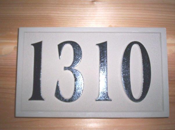 KA20888 - Carved HDU Residence Street Address Number Sign