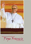 Welcoming His Holiness Pope Francis - Prayer Card (5x7 English)