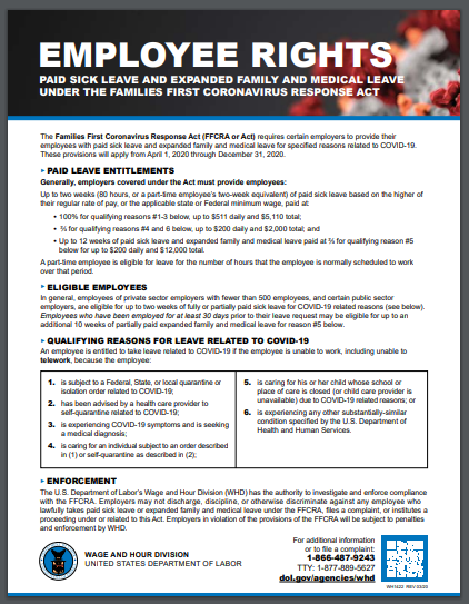 Required: Families First Coronavirus Response Act Poster