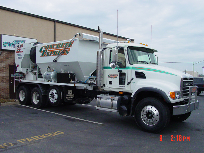 Concrete Express Truck Graphics